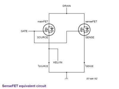 SenseFET equivalent circuit