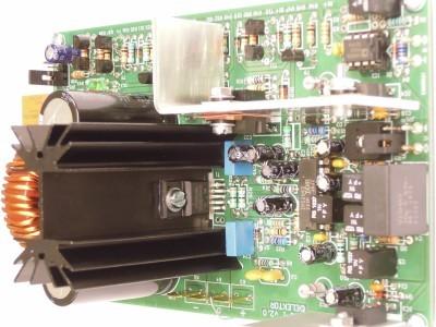 Side view on input 200W Class-D Audio Power Amplifier 150115-1 v2.1