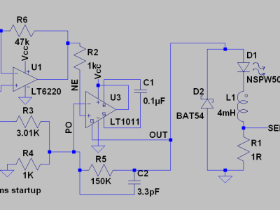 Inductor based LED dimming schematic