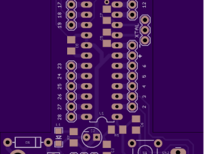 PCB Layout sent to OSHPark - T-Board for ATmega328