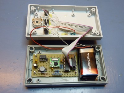 Transmitter with open case