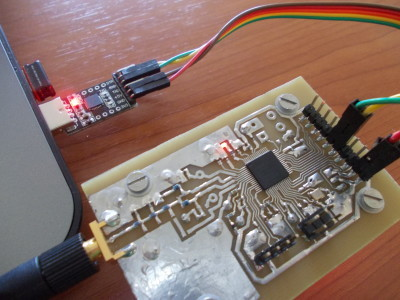 With this adaptor we can download the firmware and connect the boards with analog devices' tool