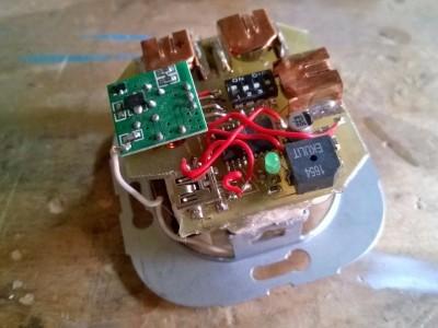 Sender / Transmitter Sandwich on Push Button Insert