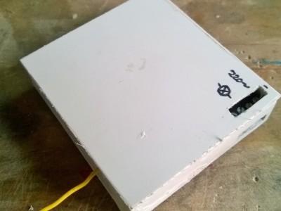 Empfänger / Receiver in Plasticbox with 17cm Antenna