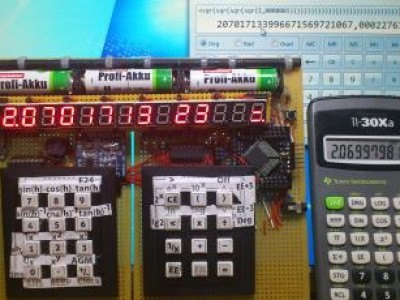 "First Calculatorfunction x^2 in Test -- ""1,0000001 expo 2"" 29x pressed."