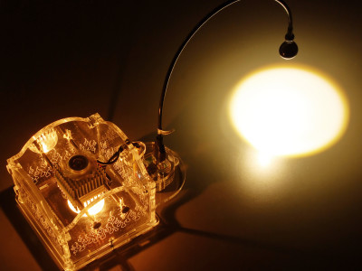 Peltier lamp during operation, enclosure no. 1