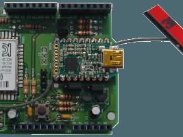 Wi-Fi / Bluetooth / USB shield for Arduino & Platino (120306)