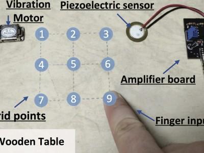 VibWrite: Identification using vibrations in finger