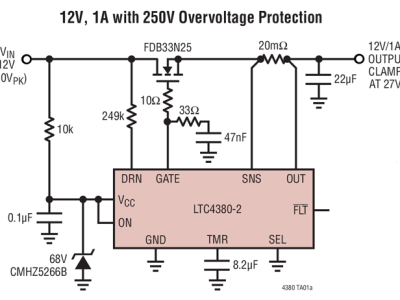 LTC4380 Overvoltage Protection