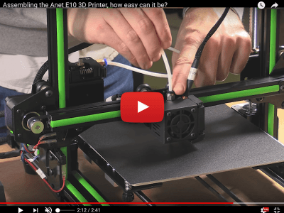 Anet E10: a new 3D printer in a kit – assembles in a flash