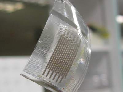 Stretchable capacitor is great for wearables