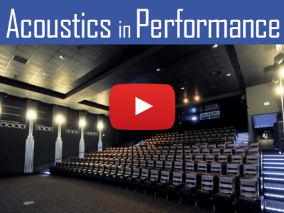 Optimal acoustics in performance