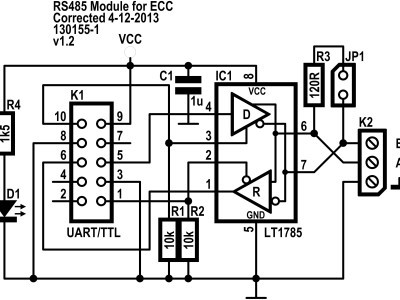 Schematic of the RS485 Module for ECC (v1.2)