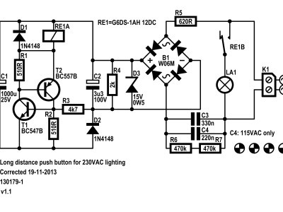 Schematic of the long distance push button
