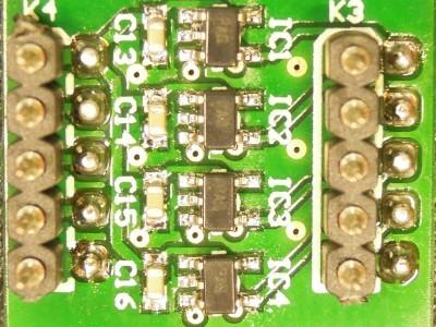 Bottom view of PCB 140169-2 v2.0