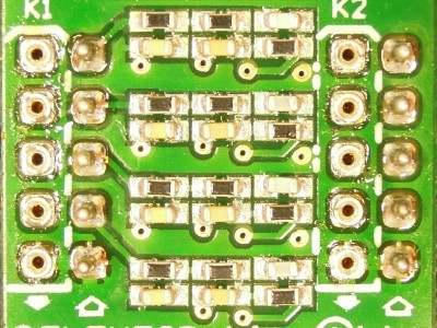 Top view of PCB 140169-2 v2.0