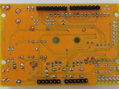 Solder side: Arduino connectors.