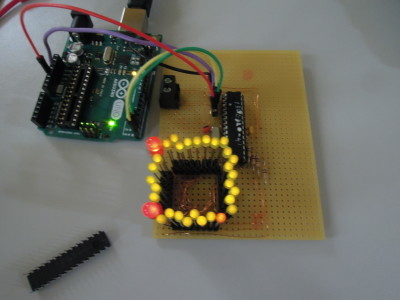 150455 1st prototype with all LEDs on