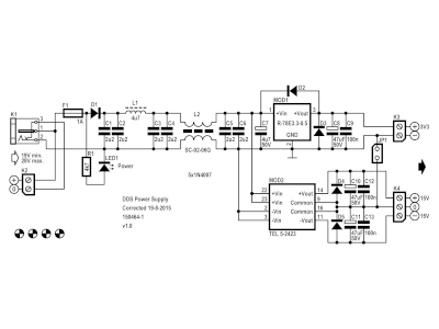 Schematic of the Universal Power Supply (150464-1 v1.0)