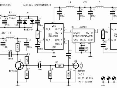 RF Board (160160-1 v 1.0) for FPGA DSP Board (150177-1)