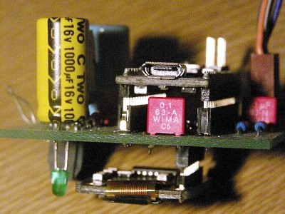 Sanwiched Arduino, PCB and OLED display