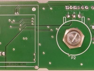Bottom view of prototype (PCB 150210-1 v1.1)