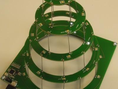 Circular christmas tree view 3
