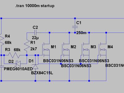 LTSPICE test schematic
