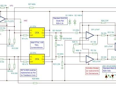 Tina-9-Simulation-Circuit Version B with LEDs