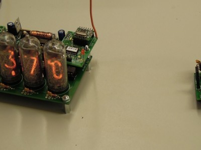 Main and remote PCB close to each other. In our lab we tested a range of 15+ meters
