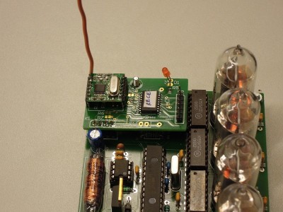 Receiver mounted on the main PCB