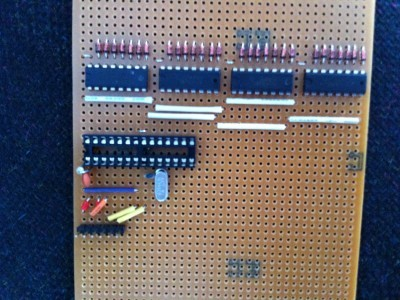 All the 74LS47's, diodes and the Arduino processor socket