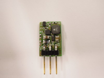 A prototype of the version 2.0 PCB