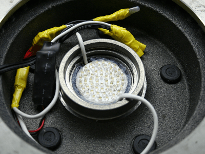 Image showing 2nd LED board mounted facing downward.