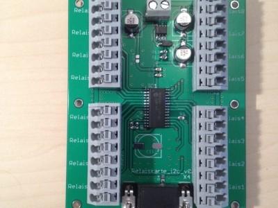 Bestückte Leiterplatte mit Portexpander MCP23017
