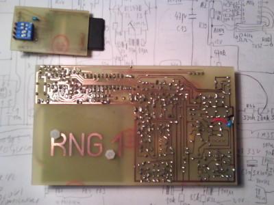 prototype PCB, bottom side