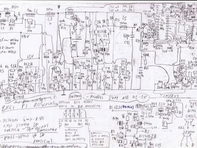 Schematics, hand drawn and scanned