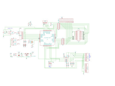 Version 0.1 schematic using 44-pin part