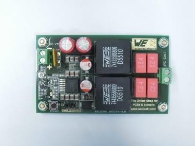 Transmitter top view (PCB 160119-1 v1.0)
