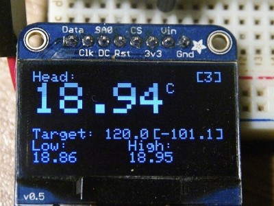 3D Printer Head and Mat Temperature controller - using Arduino [130500-I]