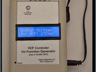 Contrôleur VCF pour générateur de fonctions