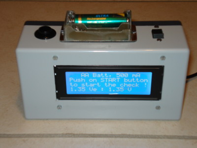 1.2 V Battery checker by discharge