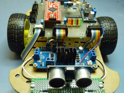 Robot build with Cypress PSoC