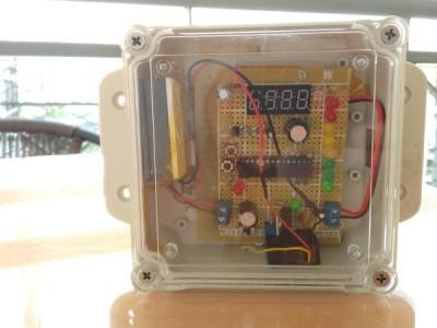 Air pollution display, Solar power, Wifi data upload: