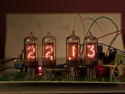 TAF1317A Nixie tubes clock