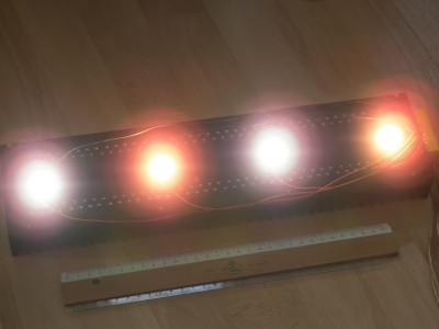 Powerful LED torchiere with remote control / LED Deckenfluter mit Fernbedienung