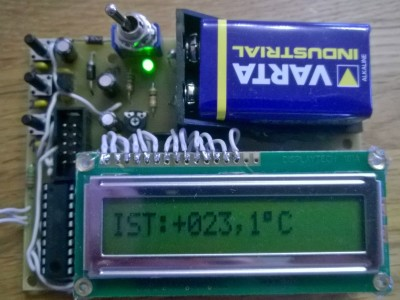 100% Calibrated Digital Thermometer 4-bit LCD with Busy Flag  check GCC Code