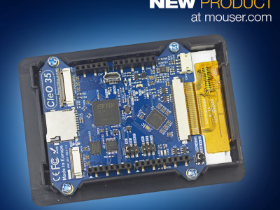Now at Mouser: FTDI Chip's CleO High Performance, Easy-to-Use Arduino HMI Shield
