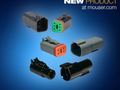 Mouser bietet großes Angebot von Kabel-zu-Kabel-Steckverbindern aus der Familie DEUTSCH DT von TE Connectivity an