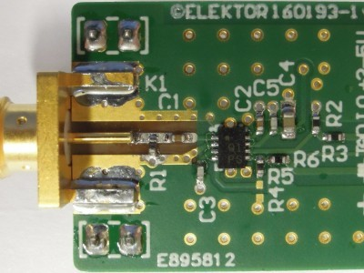 Top view of prototype of RF BOB 160193-1 v1.0